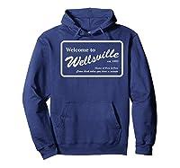 Nickelodeon Pete & Pete Wellsville Sign Premium T-shirt Hoodie Navy