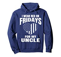 Red Fridays Deployed Uncle T-shirt Hoodie Navy