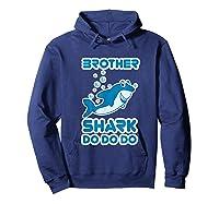 Baby Shark Doo Doo Doo Boy Family Brother Shark Shirts Hoodie Navy