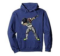 Football Dabbing T Shirt Funny Gray Navy Neon Green  Hoodie Navy