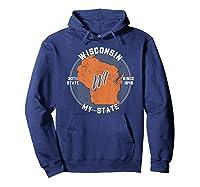 Wisconsin State Tourist Gift Shirts Hoodie Navy