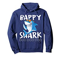 Bappy Shark, Fathers Day Gift From Wife Son Daughter Shirts Hoodie Navy