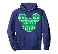 Disney Mickey Christmas Snowflakes T Shirt Hoodie Navy