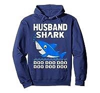 Husband Shark Doo Doo Shirt For Matching Family Pajamas Hoodie Navy