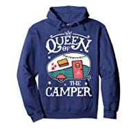 Queen Of The Camper Outdoor Camping Camper Girls Shirts Hoodie Navy