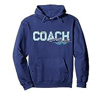 Swim Coach Gift Shirt Cool Distressed Swimming Trainer Tee Hoodie Navy