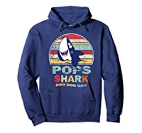 Vintage Pops Shark Fathers Day Gift For Shirts Hoodie Navy