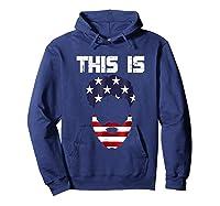 This Is American Beard T Shirt America Flag 4th July Hoodie Navy