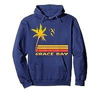 Retro Grace Bay Beach T-shirt Island Paradise Shirt Hoodie Navy