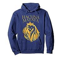 \'s Golden Lion King-hakuna Matata Tshirt-premium Quality Hoodie Navy