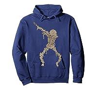 Dabbing Mummy Halloween Shirt Cute Preserved Human Dab Gift Hoodie Navy