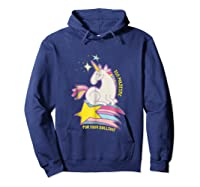 Too For Your Bs Unicorn T-shirt Rainbow Sparkles Hoodie Navy