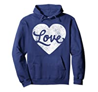 Cute Cursive Love Valentines Day Red For Shirts Hoodie Navy