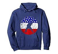 American Flag Hockey Vintage Retro Hockey Player Shirts Hoodie Navy