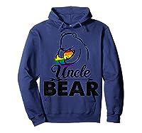 Uncle Bear Lgbt Rainbow Pride Gay Lesbian Gifts Shirts Hoodie Navy