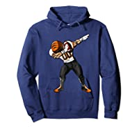 Football Dabbing T Shirt Funny Black Orange  Hoodie Navy