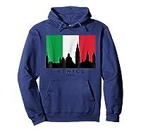 Venice Italy Skyline Italian Flag T-shirt Hoodie Navy