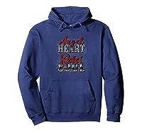 Angel Heart Rebel Soul Distressed Unisex Shirts Hoodie Navy