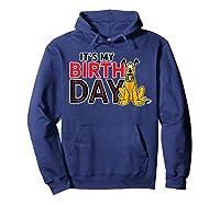 Disney Pluto My Birthday T Shirt Hoodie Navy