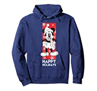 Disney Mickey Mouse Chilling T Shirt Hoodie Navy