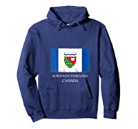 Northwest Territories Canada Province Canadian Flag Shirts Hoodie Navy