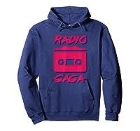Radio Gogo Fan T Shirt 80s Edition Hoodie Navy