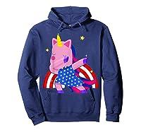 Dabbing Unicorn Merica 4th Of July For Shirts Hoodie Navy