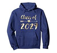 Class Of 2029 Grow With Me First Day Of School Gold Shirts Hoodie Navy