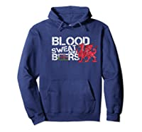 Blood Sweat Beers Wales Flag Rugby Six Nations Shirts Hoodie Navy