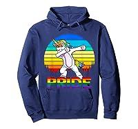 Lgbt Unicorn Dabbing T-shirt Gay And Lesbian Pride Hoodie Navy