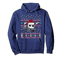 Nightmare Before Christmas Holiday Shirts Hoodie Navy