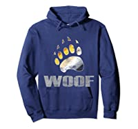 Bear Pride Woof Bear Claw Symbol Distressed For Shirts Hoodie Navy