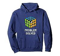Problem Solved - Rubic Cube Premium T-shirt Hoodie Navy