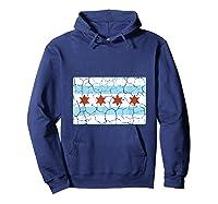 Chicago City Flag Shirt Illinois Retro Vintage Hoodie Navy