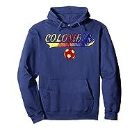 Colombia Team World Fan Soccer 2018 Cup Fan T Shirt Hoodie Navy