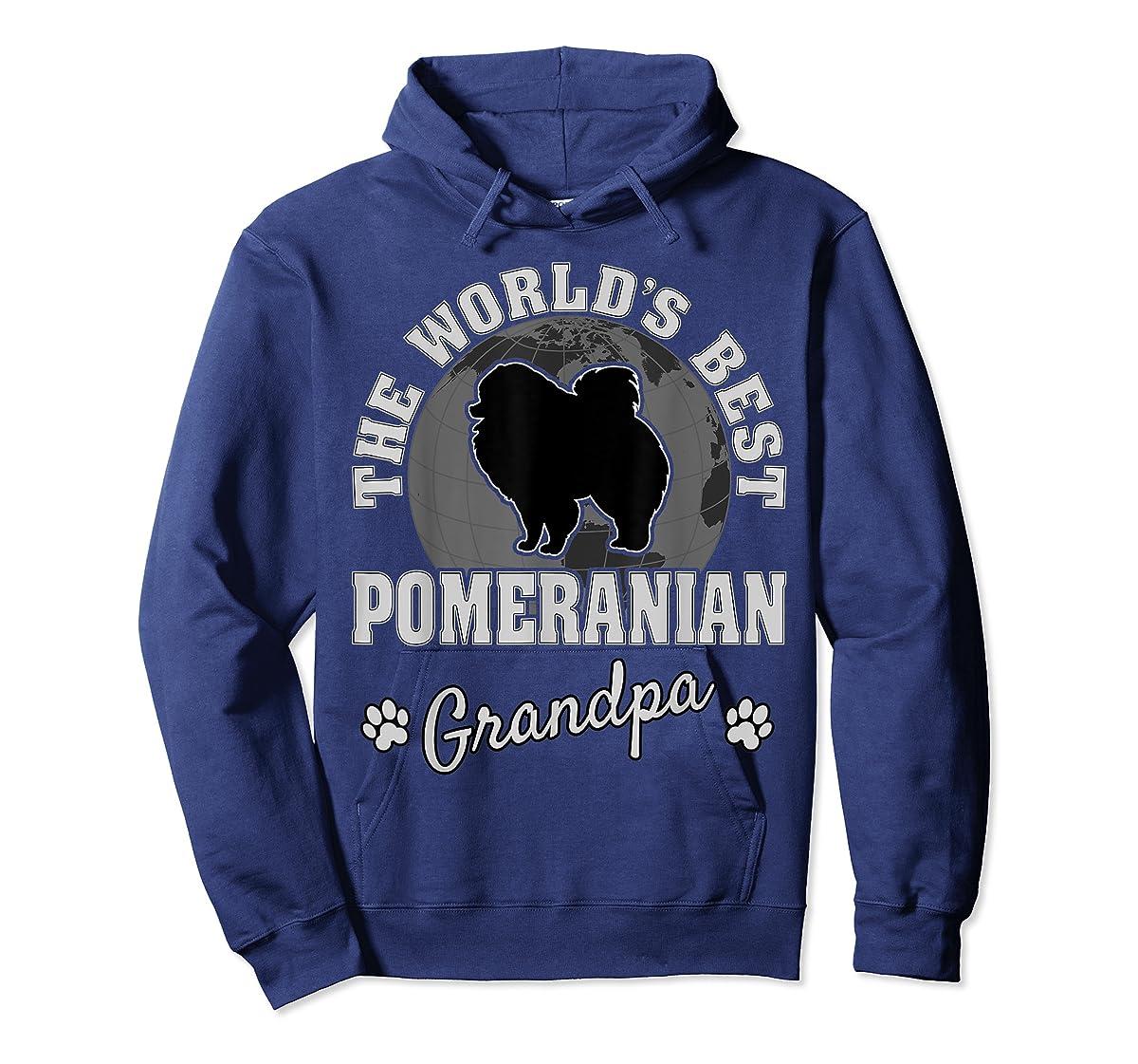 World's Best Pomeranian Grandpa TShirt-Hoodie-Navy