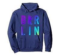 Berlin Germany City Bear Colorful Souvenir T Shirt Hoodie Navy