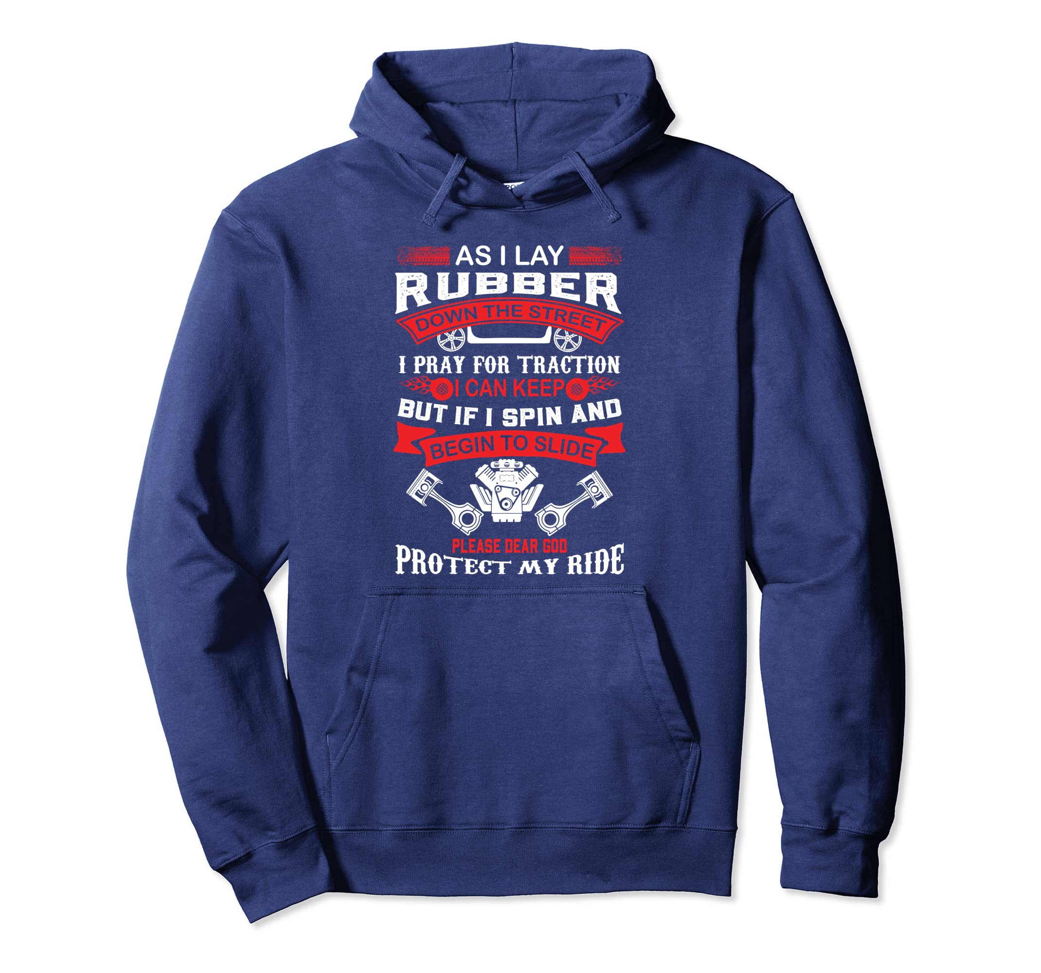 Cool As I Lay Down Rubber Drag Racing Hoodie-ln