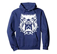 Pit Bull Face T For Pitbull And Apbt Lovers Shirts Hoodie Navy