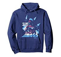 Captain Marvel I'm The Boss Space Blue Red Premium T-shirt Hoodie Navy