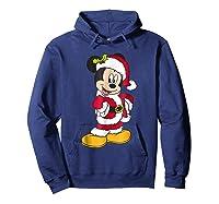 Disney Santa Mickey Mouse Holiday T-shirt Hoodie Navy