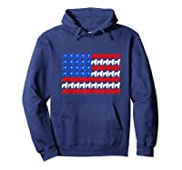 Goldendoodle 4th Of July Usa American Flag Patriotic Dog Shirts Hoodie Navy