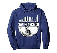 San Francisco Skyline City Baseball T Shirt Souvenir Skyline Hoodie Navy