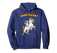Koala Bear Unicorn Gay Pride Rainbow Q Cute Gift Shirts Hoodie Navy