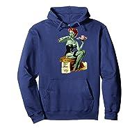 Zombie Pin Up Girl Baseball Shirts Hoodie Navy