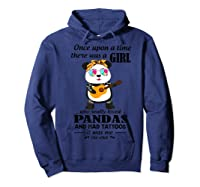 Once Upon A Time There Was A Girl Pandas And Tattoos Shirt Hoodie Navy