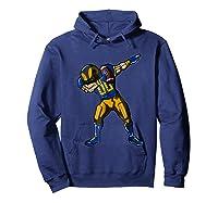 Football Dabbing T Shirt Funny Royal Blue Gold Navy  Hoodie Navy