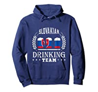Beer Slovenian Drinking Team Casual Slovakia Flag T-shirt Hoodie Navy