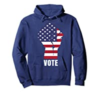 Vote Political Patriotic Rise Up And Vote Gift Shirts Hoodie Navy