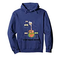 Just Have Guts Digestive System Anatomical Advice Geek Humor T-shirt Hoodie Navy